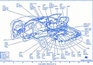Lincoln Continental 1997 Ground Electrical Circuit Wiring Diagram