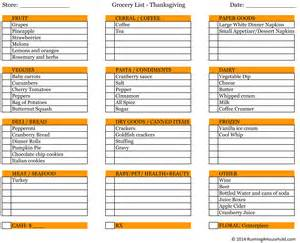 planning thanksgiving dinner running a household