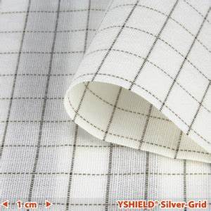 abschirmstoff silver grid nf breite 150 cm 1 laufmeter
