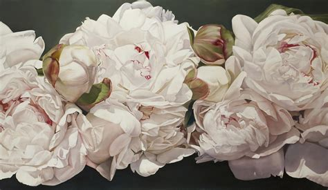 Dark Iphone 5 Wallpaper Pink White Peonies Oil Painting Painting By Thomas Darnell