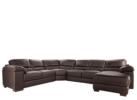 cindy crawford sectional sofa cindy crawford maglie 4 pc leather sectional sofa dark