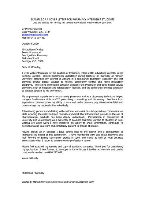 pharmacist cover letter document