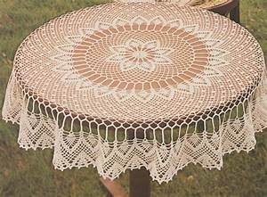 Nappe De Table Ronde : patron nappe au tricot l 39 art du fil pinterest crochet tricot et napperon crochet ovale ~ Teatrodelosmanantiales.com Idées de Décoration