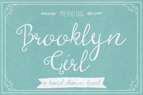 brooklyn girl script fonts  creative market