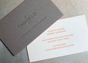 tangelo ideas letterpress business cards workhorse With business card backside ideas