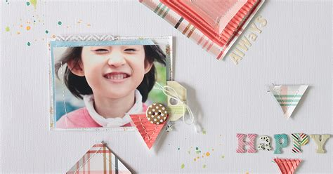 photo paper stamp crafttime layout happy