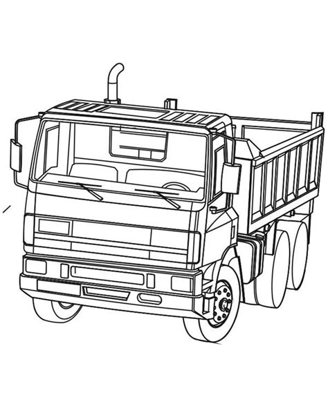 powerful ready  work dump truck coloring page kids play color