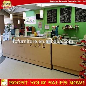Custom Beverage Shop Bubble Tea Kiosk Counter Table Design ...