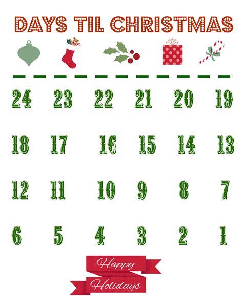 printable christmas countdown calendar the country chic