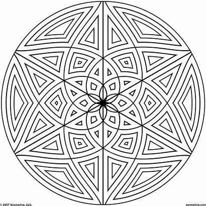 Geometric Patterns Coloring Printable Designs Line Symmetrical