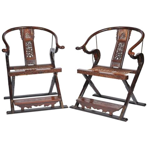 pair of late 19th century shoe chairs for