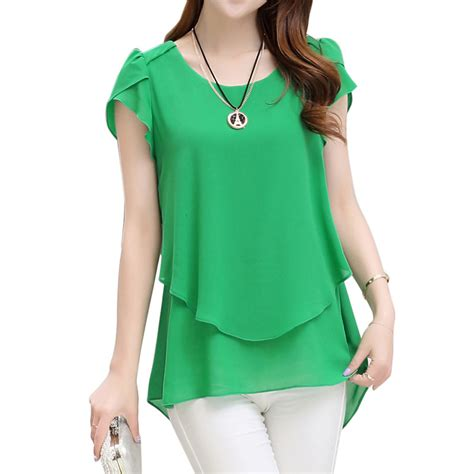 summer blouse 2017 womens sleeve chiffon blouse peplum summer tops