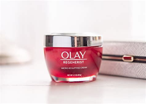 Review  Olay Regenerist Microsculpting Cream, Before
