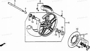 Honda Motorcycle 1984 Oem Parts Diagram For Front Wheel