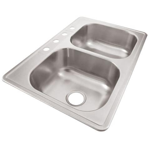 33 x 22 kitchen sink shop elkay 33 in x 22 in radiant double basin drop in