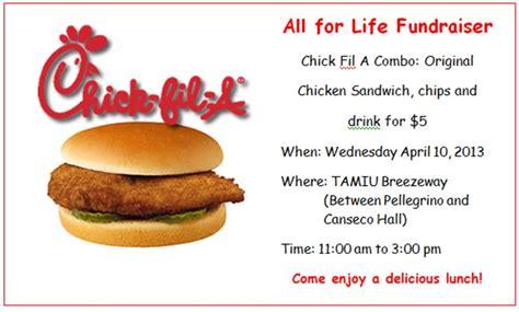 life chick fil fundraiser