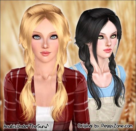 double light braids peggys hairstyle retextured  anubis