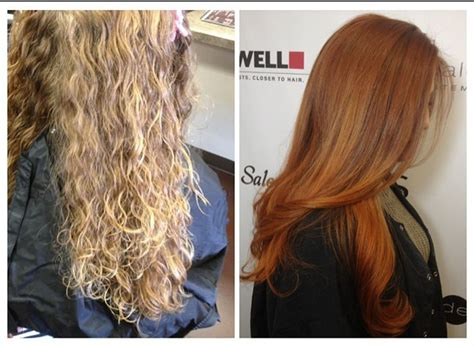 Color Transformation Blonde To Ginger Spice Haircolor