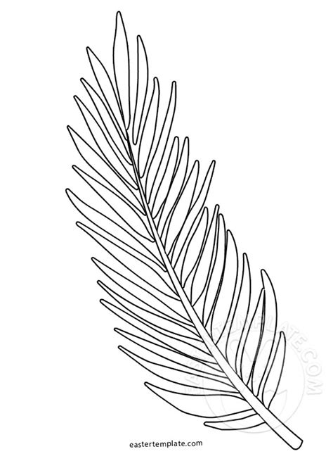 palm sunday coloring page palm branch template easter template