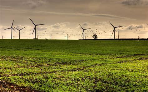 green grassland giant wind wheel amazing hd wallpapers rocks