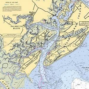 South Carolina - Palmetto Bluff / Nautical Chart Decor