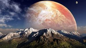Full HD Wallpaper gas giant red front view mountain ...