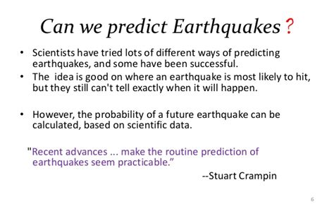 We Predict The Key Looks For: Early Prediction Of Earthquakes