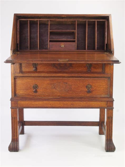 oak bureau desk vintage oak bureau bureau writing desk antiques atlas