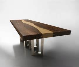 table design walnut wood table by il pezzo mancante luxury wood table design aya furniture