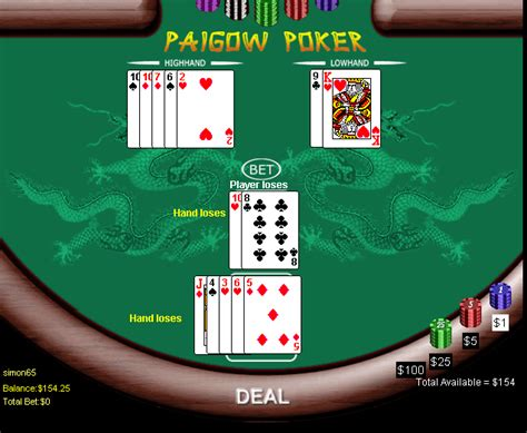 pai gow tiles house way pai gow house way for igw software wizard of odds