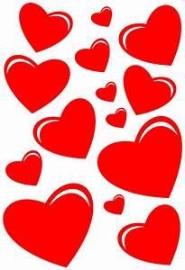 Kit 14 Stickers Coeur Pas Cher