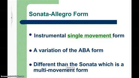 the sonata allegro form