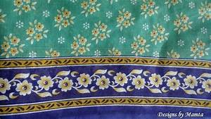 Turquoise Blue Cotton Sari Fabric By The Yard Floral Print