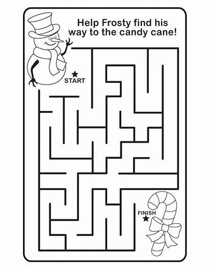 Mazes Printable Easy Pages Coloring