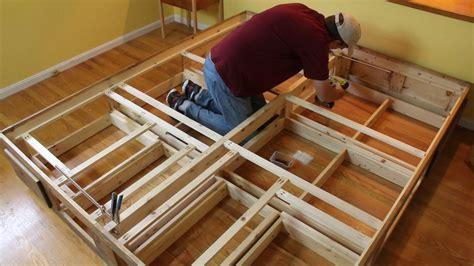 platform bed  drawers woodworking  mere mortals
