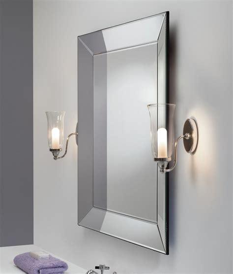 flared glass cone decorative bathroom wall light