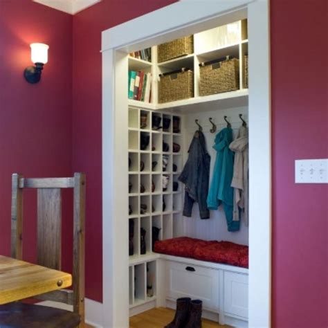 coat or mud room closet shoe storage solution they sure