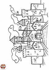 Coloring Chateau Tfou Coloriage Castle Magique Drawing Kleurplaten Desenhos Draw Colorir Ausmalbilder Magnolia Sheets Stempels Fairy Colouring Var Lovag Rajzok sketch template