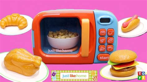 Unboxing And Playing! Heating Real Food In A Toy Microwave