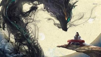 Japanese Dragon Anime Desktop Samurai Fantasy Smoke