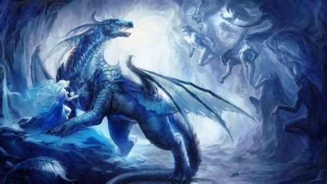 Cool World Of Warcraft Wallpapers Blue Dragon Wallpaper Wallpapersafari