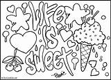 Graffiti Coloring Pages Sketches Cool Printable Words Designs Colouring Grafiti Adults Patterns Crazy Sweet sketch template