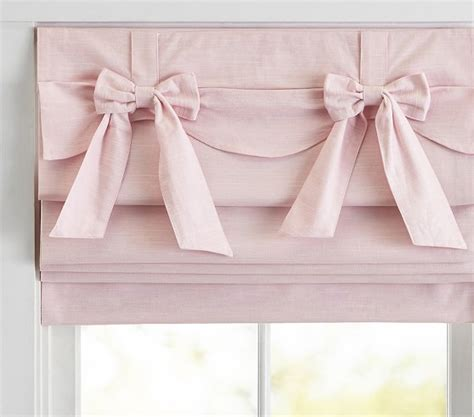 bow valance roman shade pottery barn kids