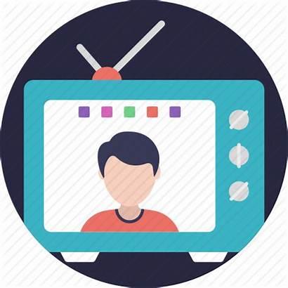 Icon Tv Broadcast Television Internet Satellite Icons