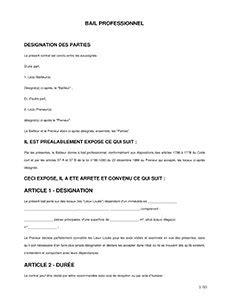 bail location bureau contrat de location gratuit à imprimer modèle conçu par