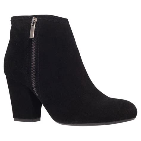 carvela kurt geiger super suede block heel ankle boots