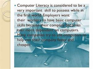 Essay On Science And Technology Computer Literacy Definition Essay Example Edward Said States Essay English Essay Structure also Sample High School Essay Computer Literacy Essay A Thesis Statement Is Computer Literacy  How To Start A Proposal Essay