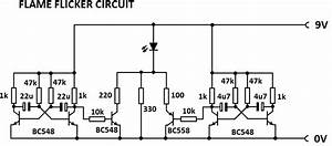 flame flicker circuit With circuit simulation