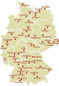 Schönsten Städte Deutschland : quermania karte st dte in deutschland sch nste st dte in deutschland urlaub und ~ Frokenaadalensverden.com Haus und Dekorationen