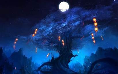 Lantern Lanterns Anime Floating Desktop Wallpapers Key
